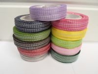 Light baby Pink 2 metres or full roll x 5mm Gingham Ribbon Double Sided check UK